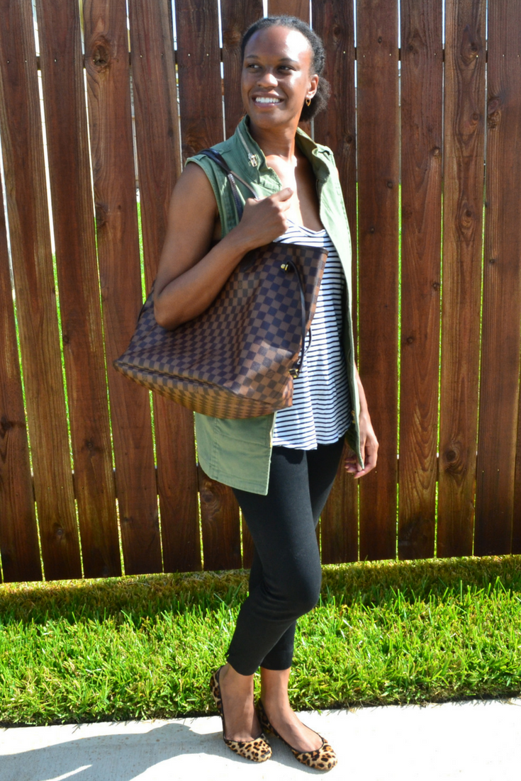 cabi vest and j. crew shoes
